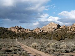 Rock Climbing Photo: The approach road, Benton Crags