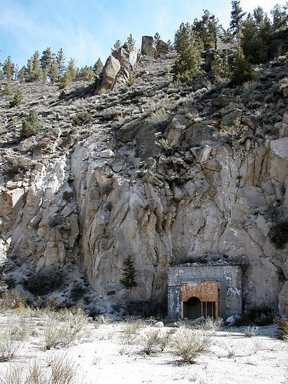 Mine entrance near Lake Crowley, Sierra Eastside