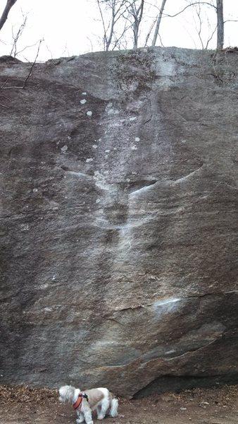 Rock Climbing Photo: Black Slab Left, SDS V7 Black Slab Right, SDS V5