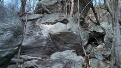 Rock Climbing Photo: Crowbar, V6 (center of picture)