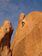 Rock Climbing Photo: Susanna Domancich approaching the crux of a 5.9.  ...