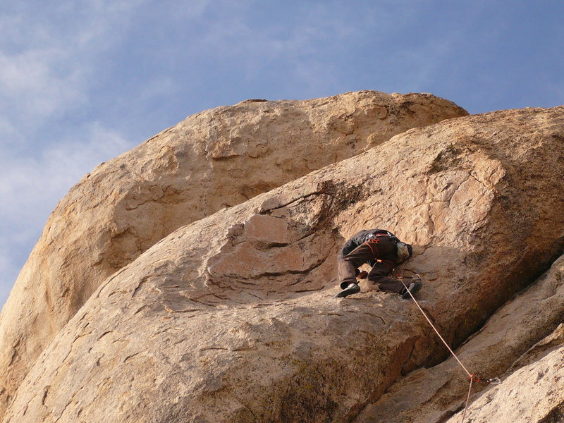 Rock Climbing Photo: Keith Erickson  dancing a 5.9 with grace at Casa D...