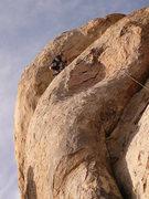Rock Climbing Photo: Achor station in sight! Climber- Keith Erickson