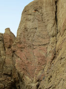 Rock Climbing Photo: Fish 'n Chips is the flake crack in the center of ...