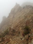 Rock Climbing Photo: Today we were in the Misty Mountains!