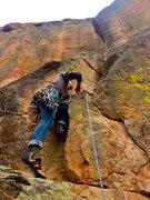 Rock Climbing Photo: P2 start.  Great crack climbing above.