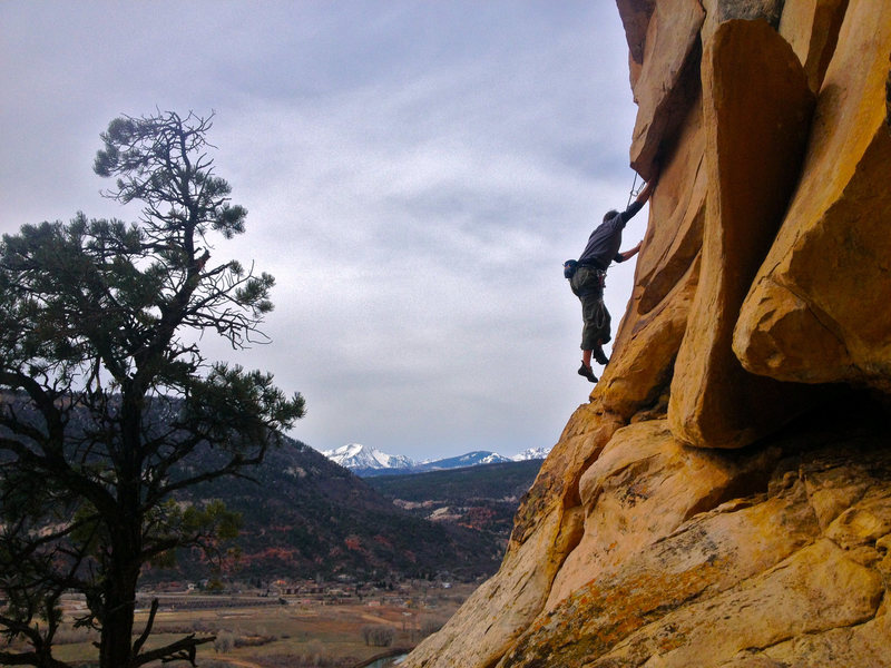 Rock Climbing Photo: Ben readies himself for the doubled part of the ex...