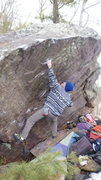 Rock Climbing Photo: Ian on the Regular route.