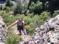Rock Climbing Photo: Megan on pitch 3