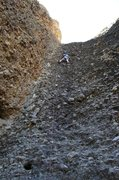 Rock Climbing Photo: Somewhat mossy cobbles
