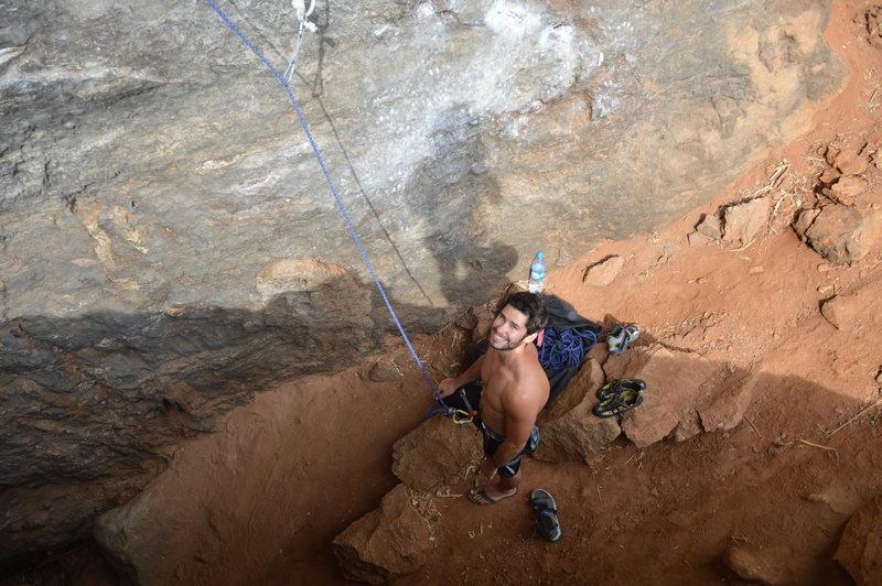 "Rock Climbing Photo: Belaying on ""Goodbye Salvador"", Escher W..."
