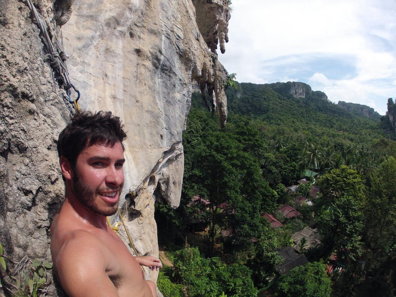 "Hot and sweaty after ""Caroline's Last Day"" 5.10a"