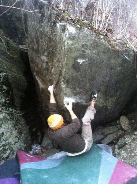 Rock Climbing Photo: Move one.
