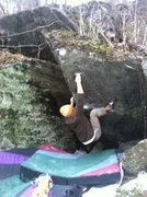 Rock Climbing Photo: Move two, grab the razor crimp!