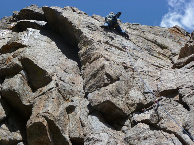 Rock Climbing Photo: Above the second bolt.