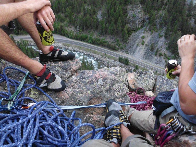 Rock Climbing Photo: Finish on second pitch.