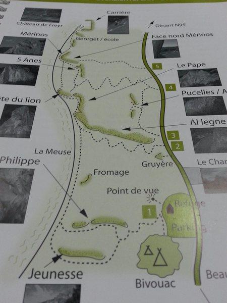 Crag Overview at Freyer.