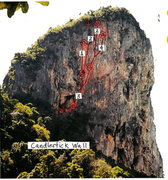 Rock Climbing Photo: Topo drawing of the routes...