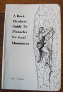 Rock Climbing Photo: 1983 Pinnacles guide by  Gagner