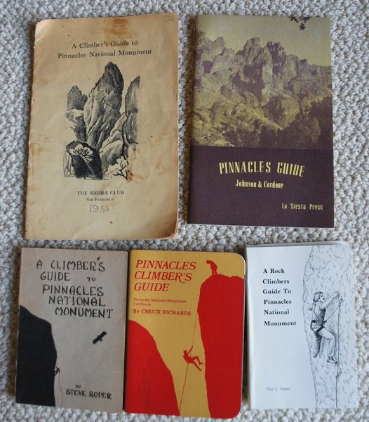 My father's Pinnacles guidebook collection -- next I'll try to scan his old photos and  post  them