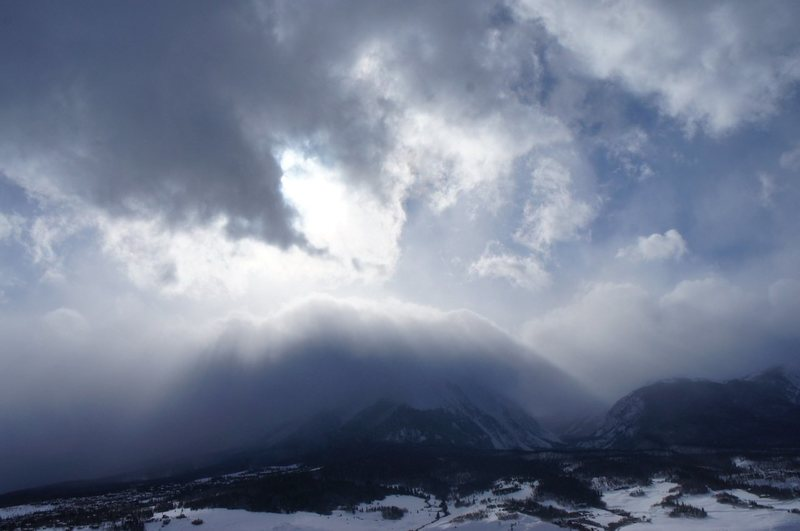 After the storm : Buffalo Mountain.