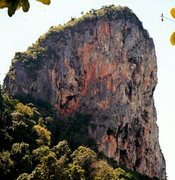 Rock Climbing Photo: The Candlestick Wall is the red-orange wall on the...