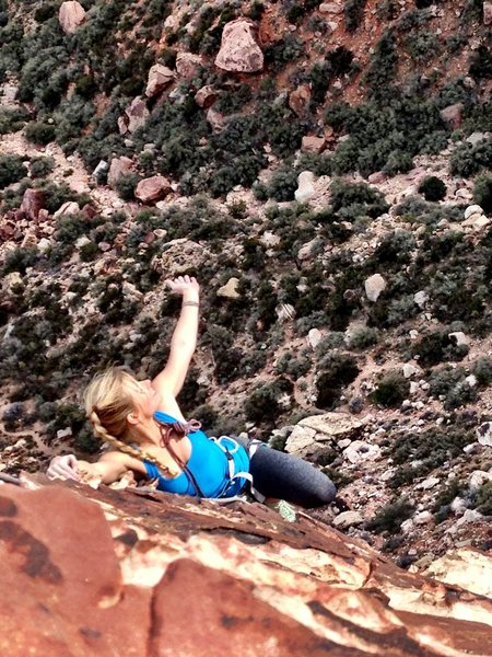first climb out in Red Rocks