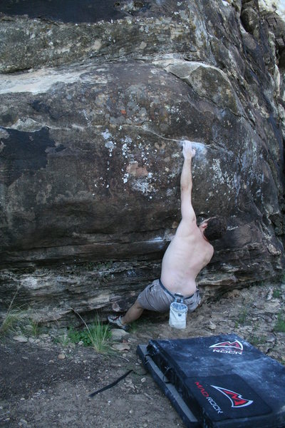 Cactus Haven bouldering in 2006. No question my favorite problem there. Memory is too bad to remember my friends name here.