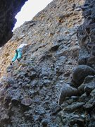 Rock Climbing Photo: Higher up  on Caress Cobble