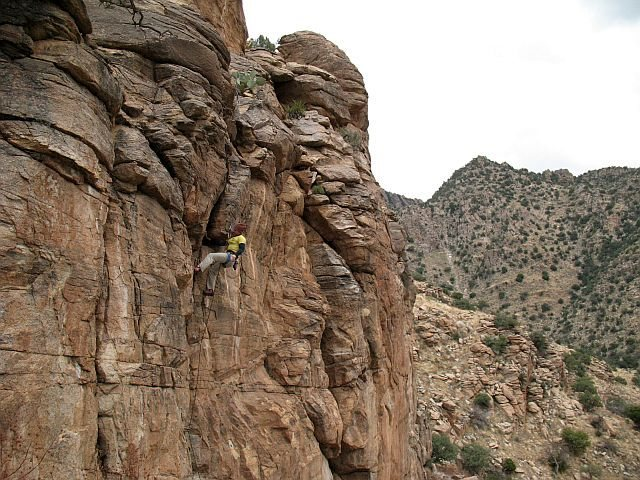 Rock Climbing Photo: Blinded by the Light (5.10a), Mt. Lemmon
