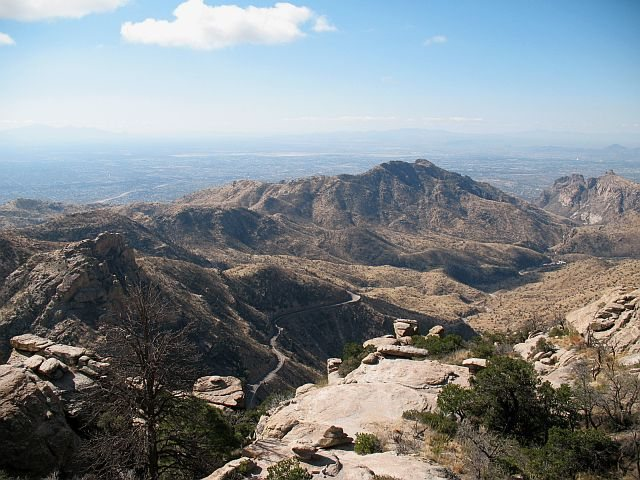 Rock Climbing Photo: Mount Lemmon Hwy and Tucson beyond, Mt. Lemmon