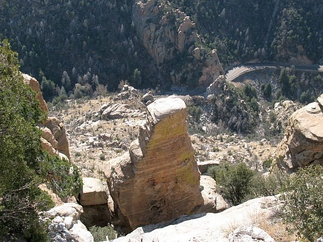 Stovepipe from above, Mt. Lemmon