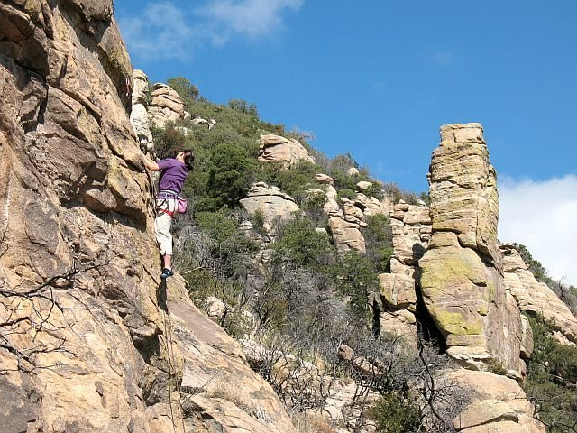 Rock Climbing Photo: Puddin' Britches (5.10a), Mt. Lemmon