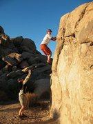 Rock Climbing Photo: Interceptor (V0), Joshua Tree NP
