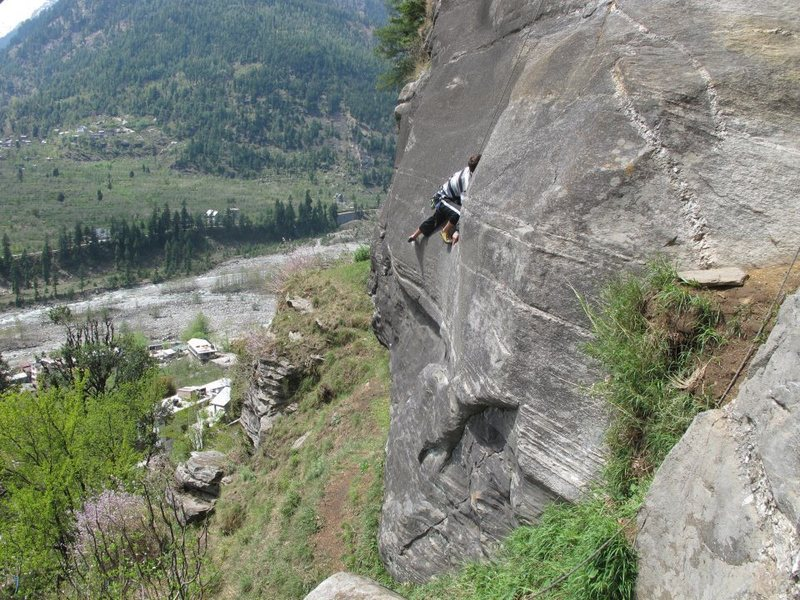 Climbing in the Himalayas...