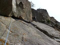 Rock Climbing Photo: Near the bottom of the climb.