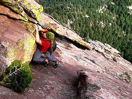 """Rock Climbing Photo: Coming out of the """"awkward slot"""" on the ..."""