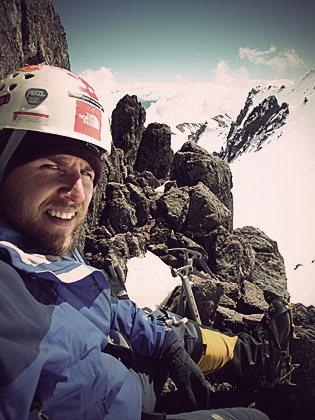 Rock Climbing Photo: Enjoying full alpine conditions during a quick cli...