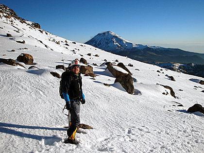 Another beautiful day enjoying a snowy Iztaccíhuatl with friends, Estado de Mexico, Mexico.