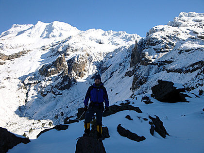 Rock Climbing Photo: Enjoying full Winter conditions at Iztaccíhuatl. ...