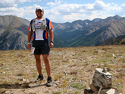 "Smiling atop Hope Pass during the 2009 Leadville Trail 100 miler ""The Race Across The Sky"", Leadville, CO."