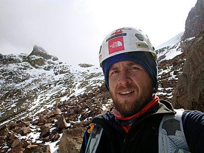 Enjoying a beautiful Summer day while doing a speed (3:40:17) ascent of Iztaccíhuatl (5,230 m) via Ayoloco glacier, Estado de Mexico, Mexico.