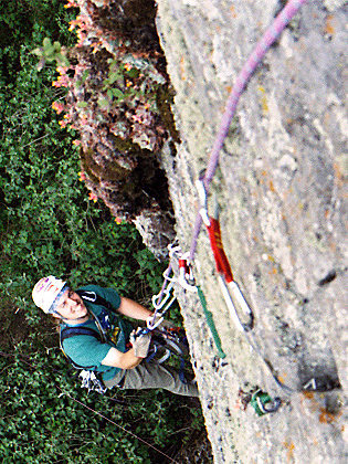 More of the old school days when opening hard aid climbing routes was the regular weekend fun activity, Ajusco, Mexico City, Mexico. (2002)