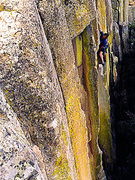 "Rock Climbing Photo: Going through the crux of ""El Nopal"" (5...."