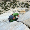 7th pitch of Cathedral Peak's Southeast Buttress, Tuolumne Meadows, Yosemite, CA.