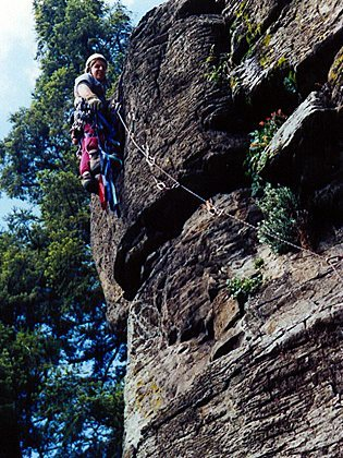 Rock Climbing Photo: The old days when opening hard aid climbing routes...