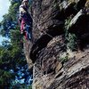 The old days when opening hard aid climbing routes was the regular weekend fun activity, Ajusco, Mexico City, Mexico.