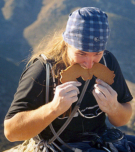 Rock Climbing Photo: Piggy bars are dirtbag climber's food of choice, P...