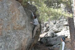 Rock Climbing Photo: Dave on this great problem. Good as part of a warm...