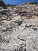 Rock Climbing Photo: The large crack is Ichabod.
